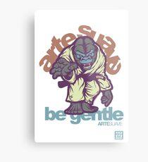 Be Gentle - Jiu Jitsu Gorilla Metal Print