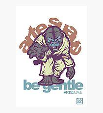 Be Gentle - Jiu Jitsu Gorilla Fotodruck