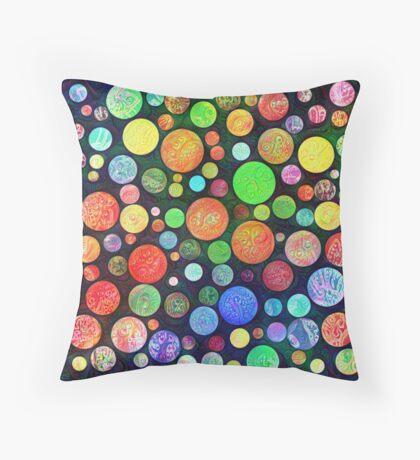 #DeepDream Color Squares Circles Visual Areas 5x5K v1448464170 Throw Pillow