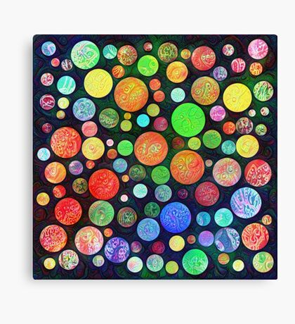 #DeepDream Color Squares Circles Visual Areas 5x5K v1448464170 Canvas Print