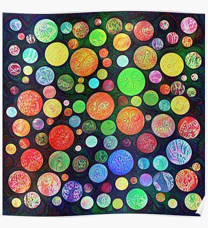 #DeepDream Color Squares Circles Visual Areas 5x5K v1448464170 Poster