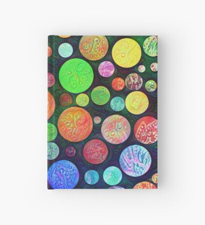 #DeepDream Color Squares Circles Visual Areas 5x5K v1448464170 Hardcover Journal