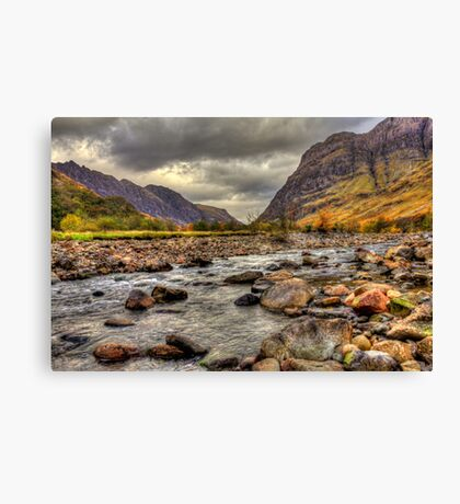 In To The Valley - Glencoe Canvas Print