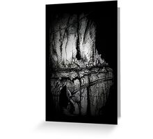 A Mysterious Cave. Greeting Card