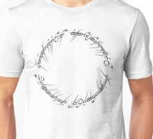 The One Ring (Inscription) Unisex T-Shirt