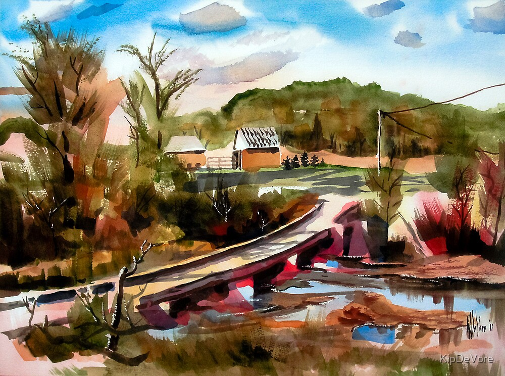Low Water Bridge on Stout's Creek 2 by KipDeVore