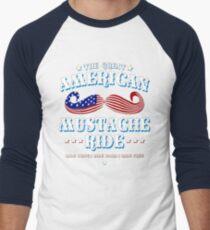 The Great American Mustache Ride Men's Baseball ¾ T-Shirt