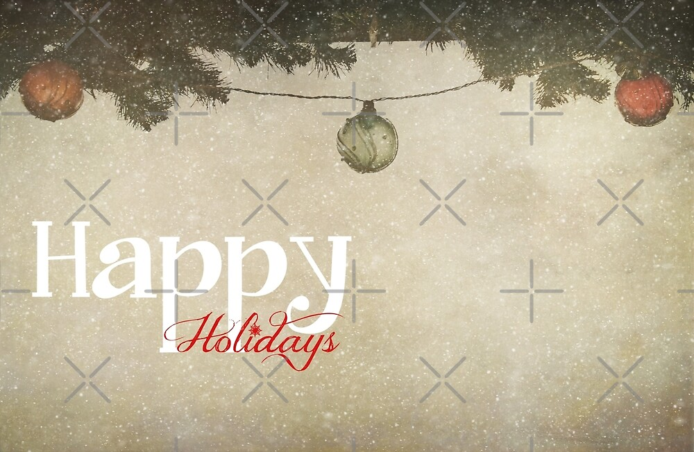 Happy Holidays (Christmas Baubles) by Denise Abé