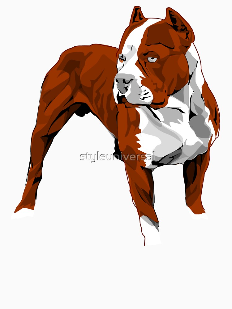 Red Pitbull vector design by styleuniversal