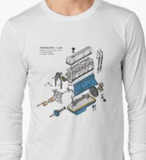 Nissan L6 Exploded View Long Sleeve T-Shirt