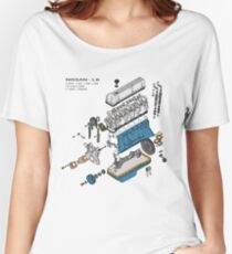 Nissan L6 Exploded View Women's Relaxed Fit T-Shirt