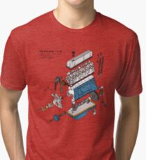 Nissan L6 Exploded View Tri-blend T-Shirt
