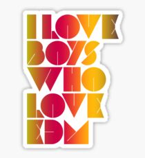 I Love Boys Who Love EDM (Electronic Dance Music) [special edition] Sticker
