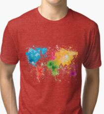 world map painting Vintage T-Shirt