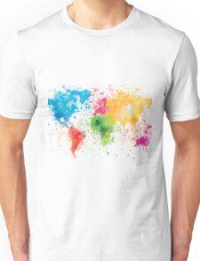 world map painting Unisex T-Shirt