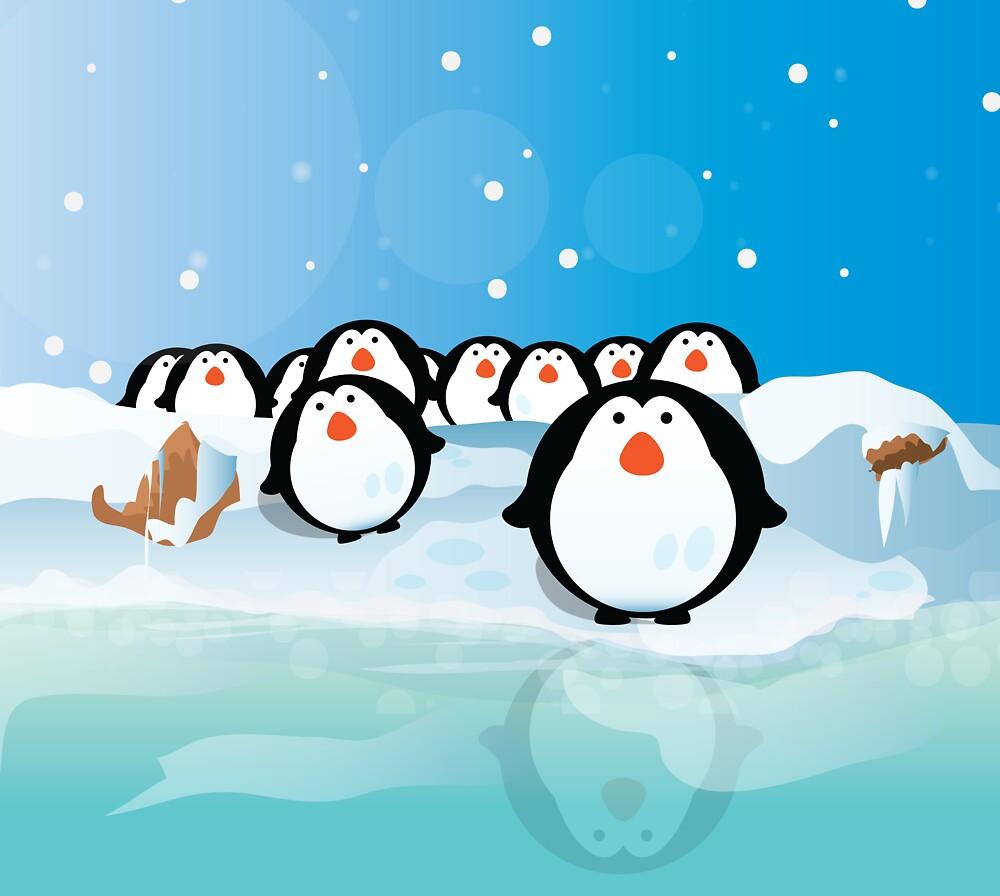 Penguins by vectorwebstore