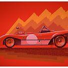 Ferrari 312P - Digital Painting by David Jones
