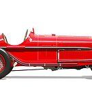 Alfa Romeo P3 - Side Profile by David Jones
