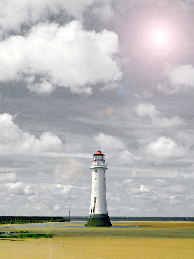 Lens Flare Lighthouse by DavidWHughes