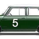 Mini Cooper - Side Profile by David Jones
