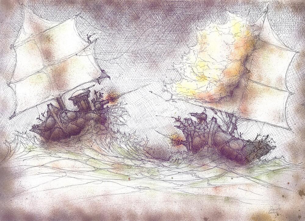Naval Battle by Daniele Lunghini