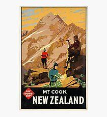Vintage poster - New Zealand Photographic Print