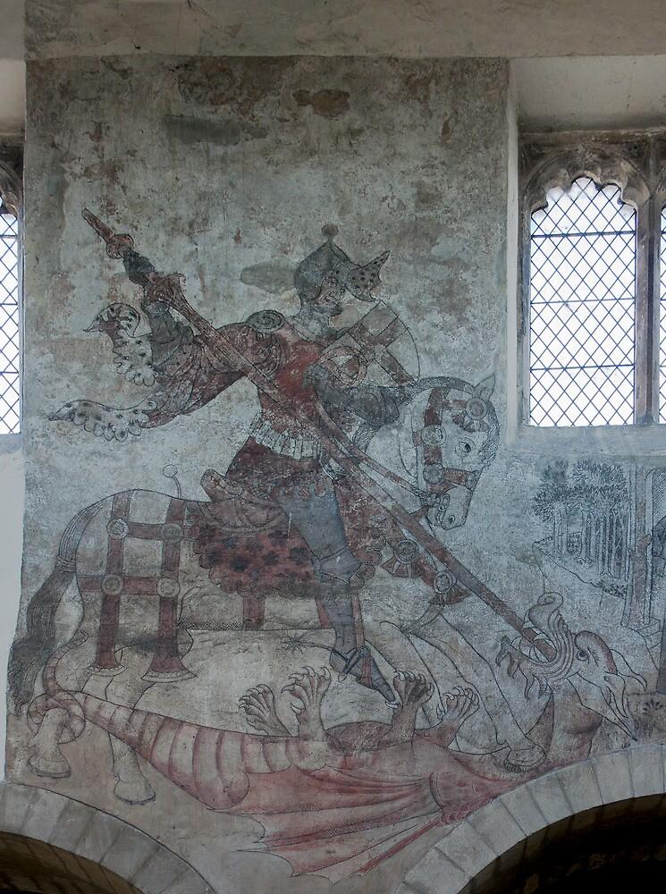 Pickering church, Yorkshire,UK ( Wall painting 1) by jasminewang