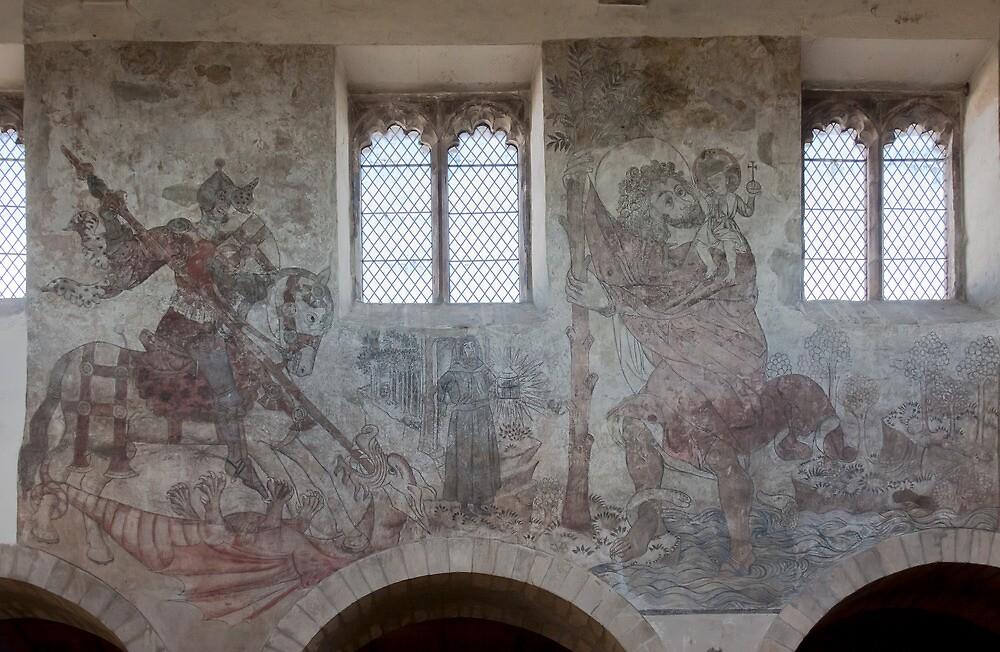 Pickering church, Yorkshire,UK ( Wall painting4) by jasminewang