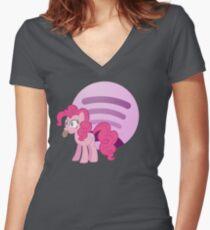 Spotti Pie Women's Fitted V-Neck T-Shirt