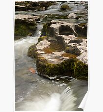 Flowing water in Yorkshire Dales Poster