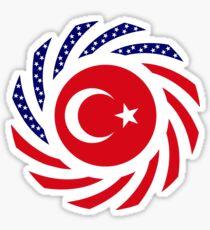 Turkish American Multinational Patriot Flag Series Sticker
