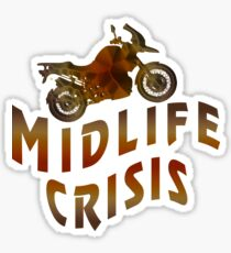 Living The Midlife Crisis Sticker