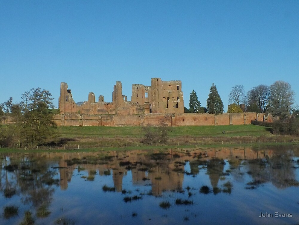Mere reflections of Kenilworth Castle by John Evans