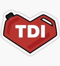 I Love My VW TDI Sticker
