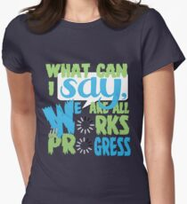 What Can I say [Blue/Green] Women's Fitted T-Shirt