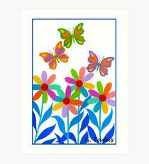 DREAMLAND FLOWERS Art Print