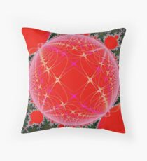 Fractal Christmas Throw Pillow