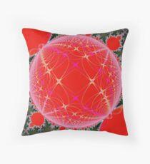 Fractal Christmas Throw Pillow