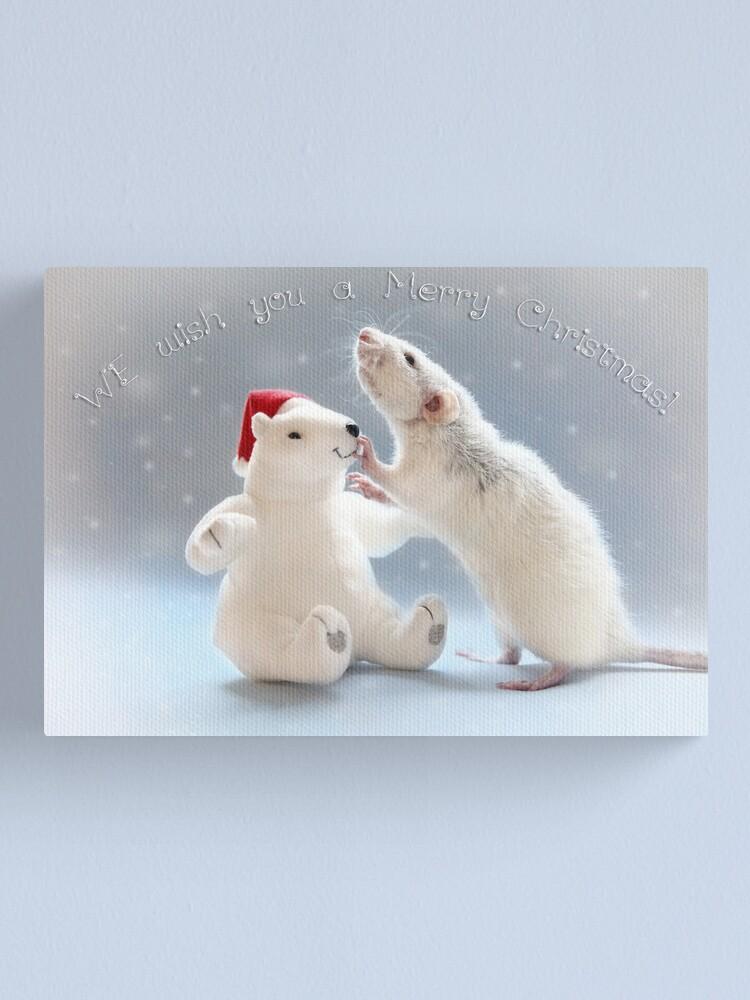Alternate view of Christmas.... Canvas Print