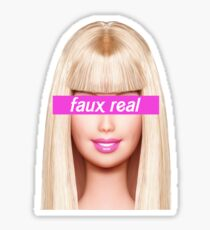 Faux Real Sticker