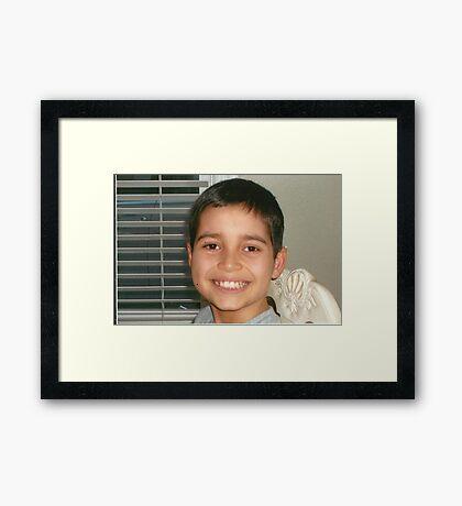 Christopher's Smile:-) Framed Print