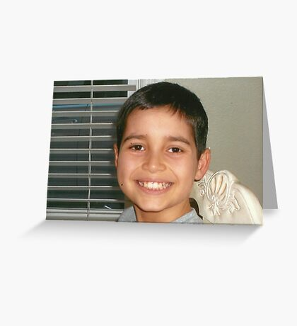 Christopher's Smile:-) Greeting Card