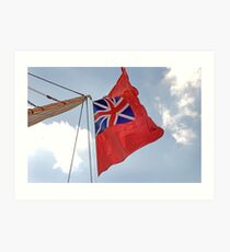 British ensign flag on ship, Brest 2008 Maritime Festival, Brittany, France Art Print