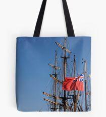 British ensign flag on ship, Brest 2008 Maritime Festival, Brittany, France Tote Bag