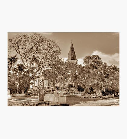 St. Matthew's Anglican Episcopal Church and Eastern Cemetery in Nassau, The Bahamas Photographic Print