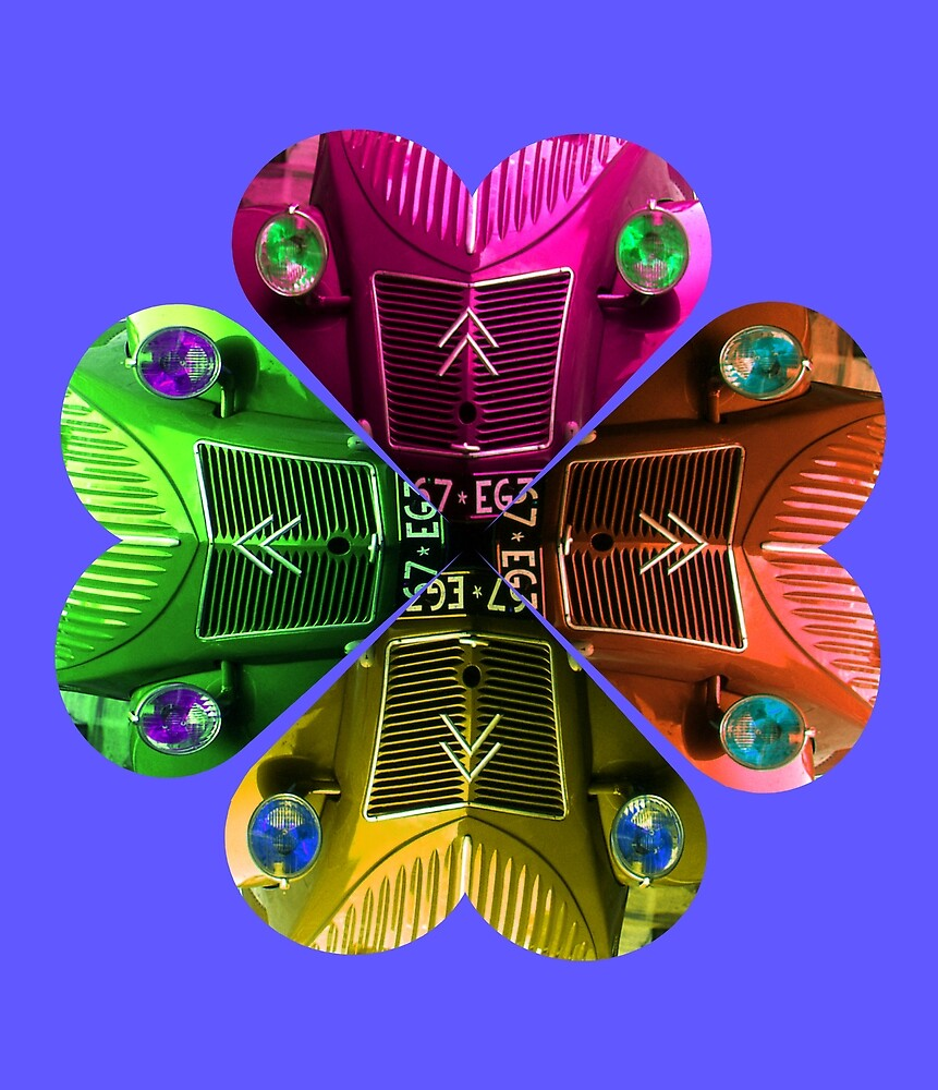 LOVE CITROEN 2CV DEUX CHEVEUX CAR FLOWER by KenAlex
