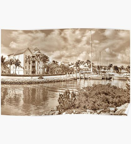 Entrance Canal to Harbour Village on Paradise Island - Nassau, The Bahamas Poster