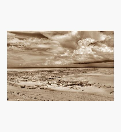 Storm coming from the East at Yamacraw Beach in Nassau, The Bahamas Photographic Print