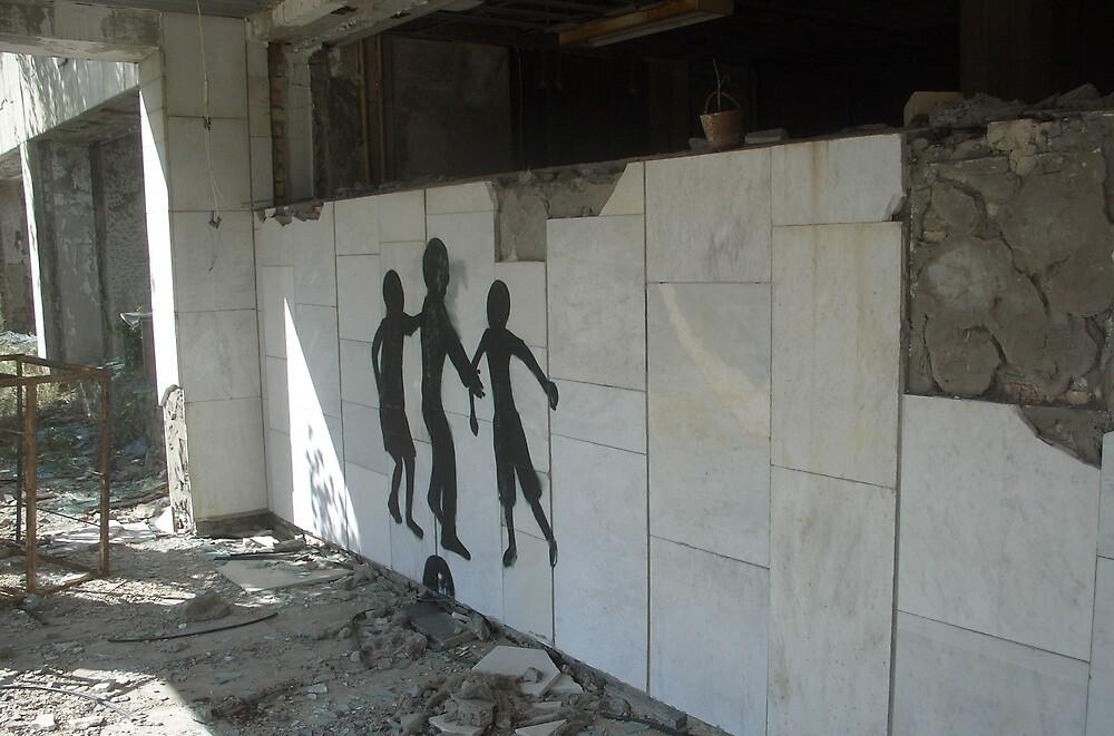 Graffiti, Chernobyl exclusion zone by Giles Thomas