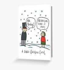 A Dublin Christmas Carol  Greeting Card